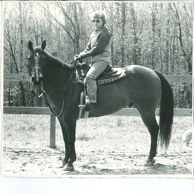 Lucy Cotterman on her horse, Bert.