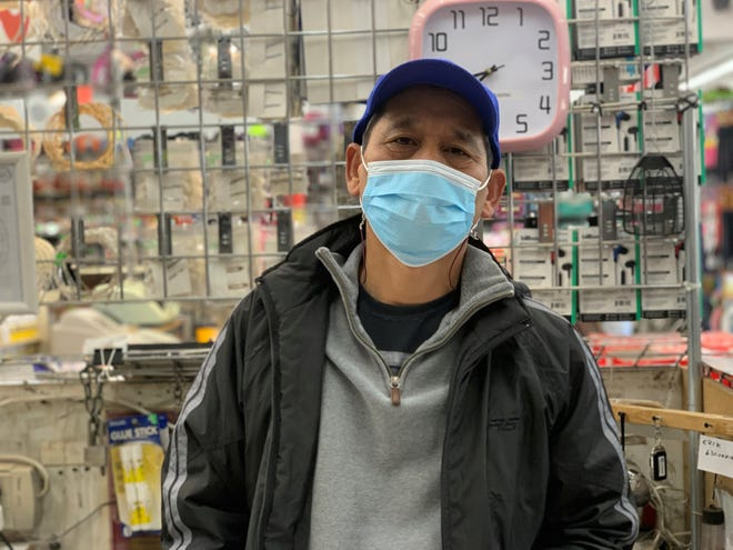 Chris Park is the owner of La Familia, a store in downtown Nogales. After closing for seven months, he opened the store for the holidays, but sales are way down this year because Mexican shoppers, his main customer base, are unable to cross.