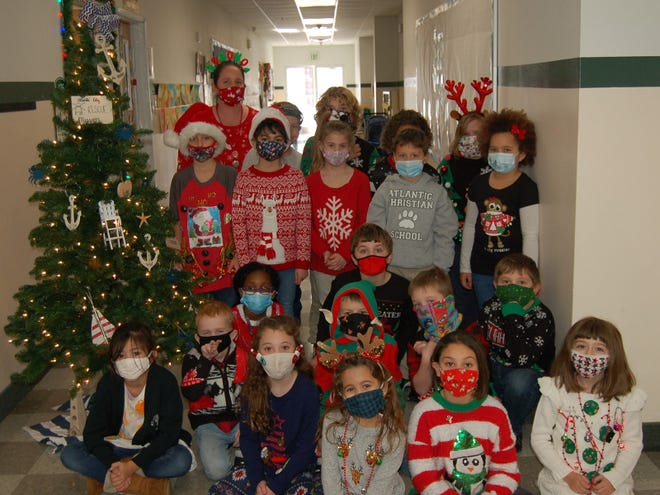 """Atlantic Christian School students in kindergarten through 12th grade shared the Christmas spirit in December by participating in a new """"Giving Tree"""" service project, which raised more than $4,500 for charities serving in the U.S. and overseas. Students in Amy Williams' second-grade class raised the most overall and won the elementary division, raising $617.50 for their charity, the Atlantic City Rescue Mission."""