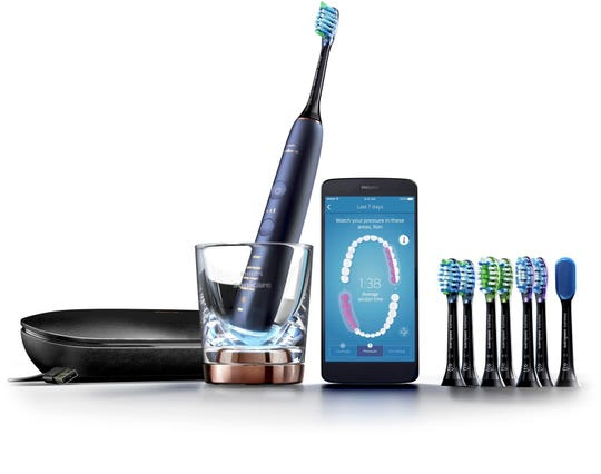 Thanks to sensors inside the Philips Sonicare DiamondClean Smart Toothbrush (9700 model), an app on a nearby phone or tablet can show you where you're brushing inside your mouth and the parts you may be missing.