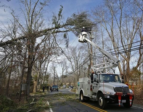 Officials from Eversource said workers canceled vacations in order to be available to assist with restoring power associated with today's heavy rains and high winds.
