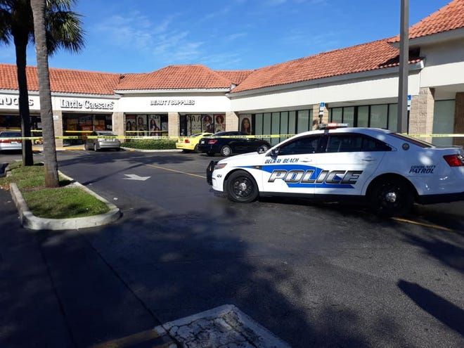 One man was injured after a shooting at a Delray Beach shopping plaza Friday morning, according to city police.