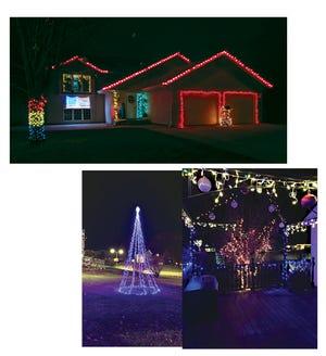 Christmas decorations at Sleepy Eye homes