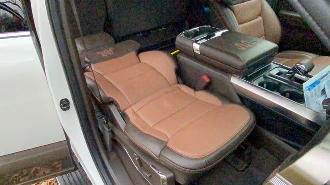 Max Recline flat-folding seat in 2021 Ford F-150  Powerboost hybrid