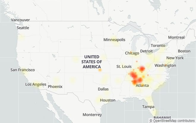An AT&T outage was reported in Nashville and Middle Tennessee hours after an explosion took place near an AT&T facility.