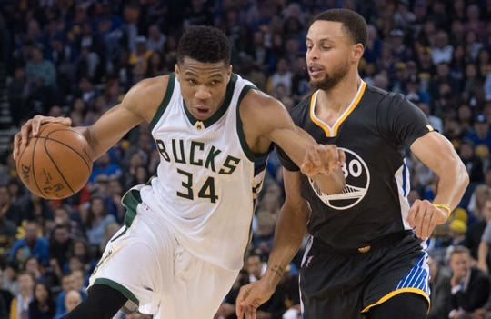 Giannis Antetokounmpo and Steph Curry are both searching for their first win of the season.