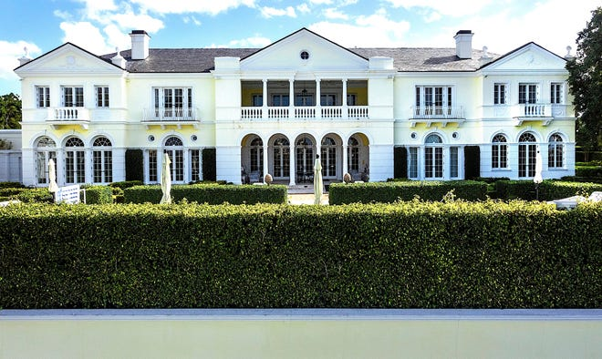 The lakeside estate of the late Kathleen DuRoss Ford at 300 N. Lake Way changed hands via a deed recorded Wednesday for $55.15 million.