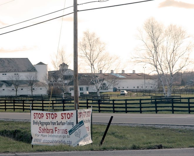 Sahbra Farms in 2016 was the site of a dispute over mineral extraction, and now the farm is suing the city for its role in preventing that mineral extraction from going forward in a timely manner.