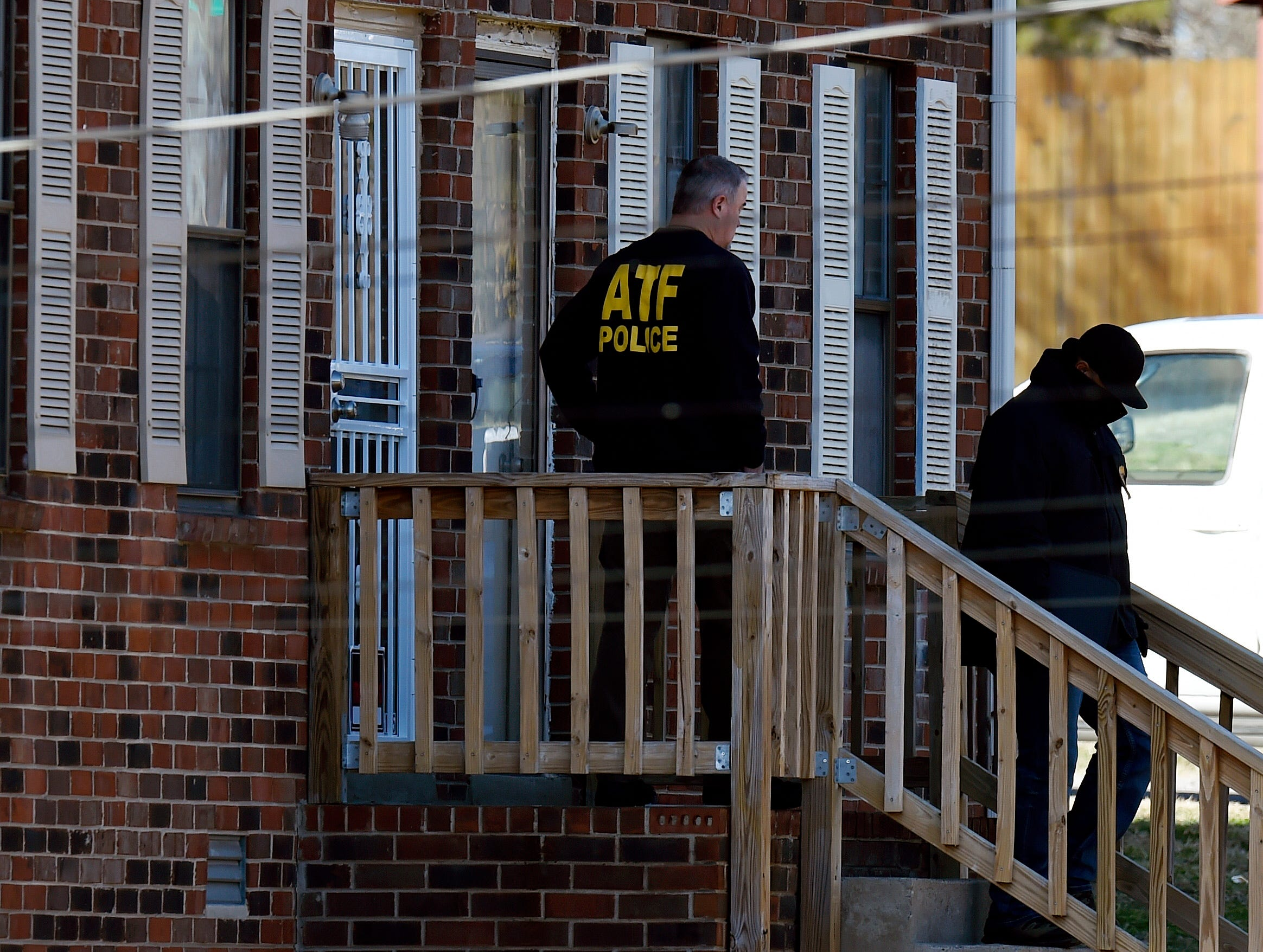 ATF, Metro Nashville Police, and the FBI search a home on Bakertown Drive in connection with the Christmas Day explosion on Saturday, December 26, 2020 in Antioch, Tenn.