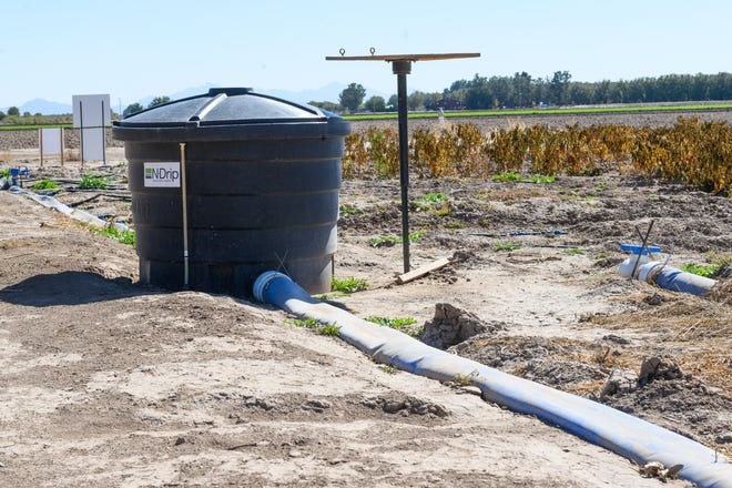 The N-Drip system provides precise irrigation using only gravitational force for power and tolerates natural water without the use of pressure-based filters.