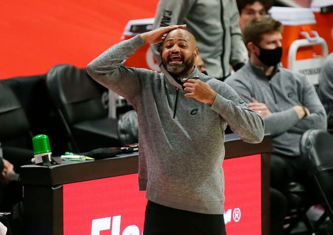 Cavaliers coach J.B. Bickerstaff will not coach against the Chicago Bulls on Wednesday night. Bickerstaff left the team for personal reasons and is expected back for Friday's game against the Charlotte Hornets [Duane Burleson/Associated Press]
