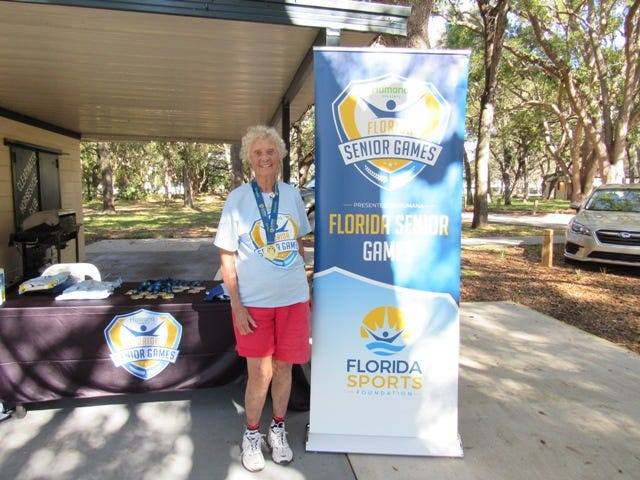 Claudette Braswell won her third consecutive Florida Senior Games horseshoe title for her age bracket.
