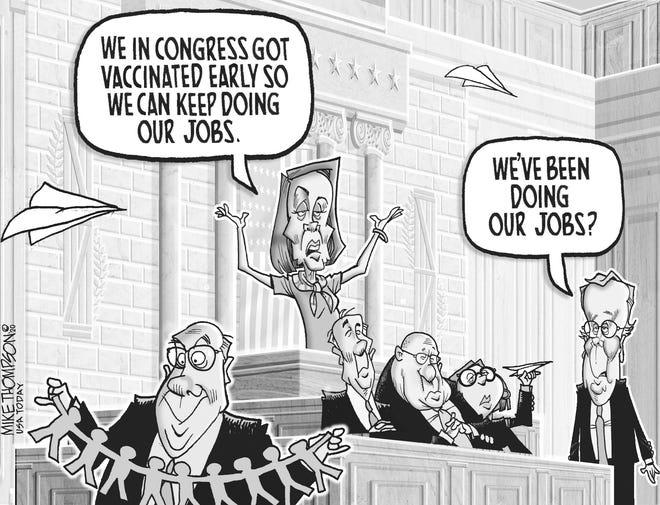 A Mike Thompson cartoon on an ineffective Congress