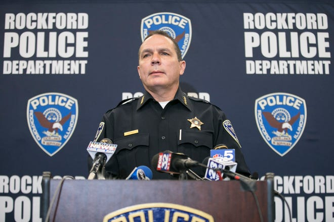 Rockford Police Chief Dan O'Shea said Tuesday that his last day with the department will be April 30. O'Shea, who started in Rockford in Apirl 2016, had always said 2021 will be his last year as the city's top cop.