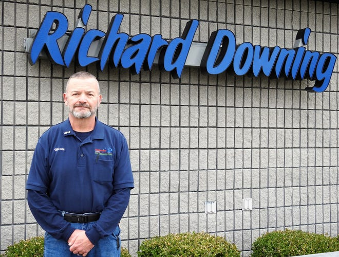 Marty Dobson has been named the new administrator of the Richard Downing Airport, replacing the retired Bethel Toler. Dobson has worked in maintenance at the airport and is familiar with its workings. He hopes to get the corporate hangar project going again, along with reviving the amphitheater and airshow.