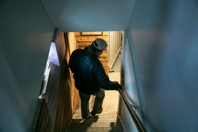 Ken Flaherty takes the Free Press on a tour of his basement  where flooding has caused thousands of dollars in damage. Flaherty said his backup caused $30,000 in damages.