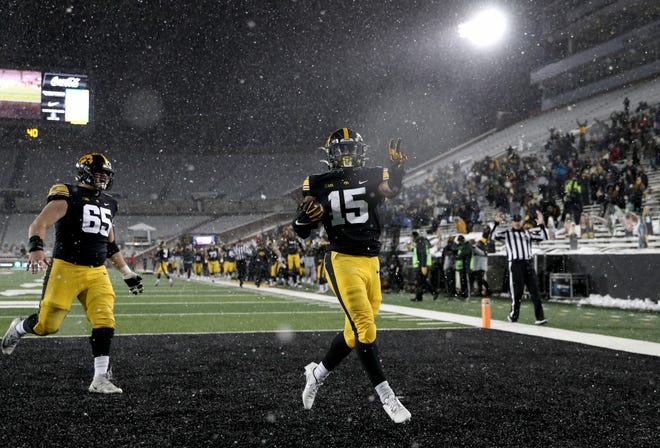 It turns out, the last touchdown of Iowa's season will have been Tyler Goodson's 80-yard run in the final minutes against Wisconsin on Dec. 12.