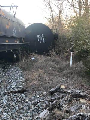 Propane tankers derailed near Pillsbury in Murfreesboro on Saturday.