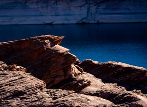 Lake Powell, one of the two largest reservoirs on the Colorado River, stands at 44% of full capacity in November 2020.