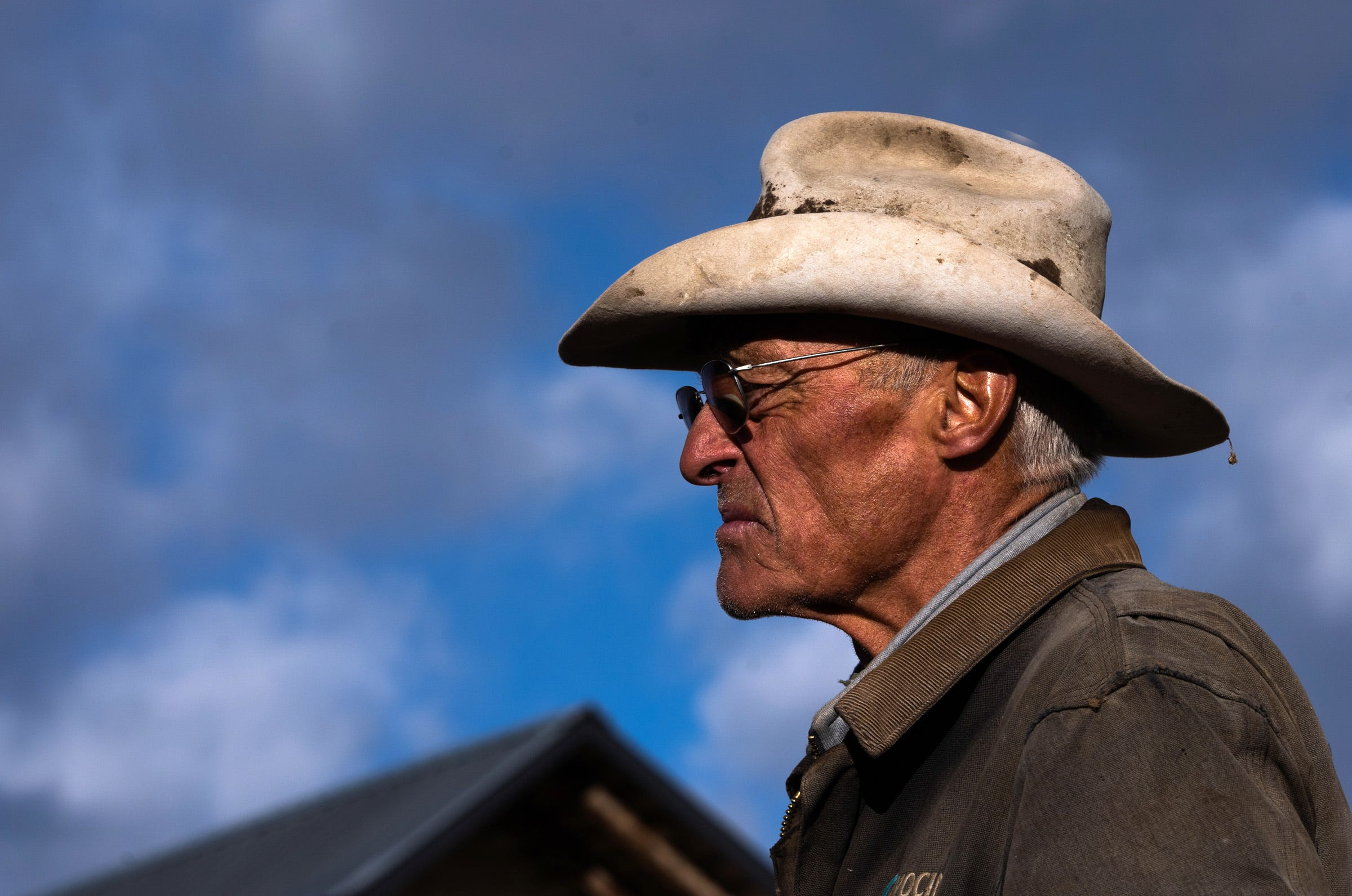 Rancher Bill Trampe, a board member of the Colorado River District, raises cattle near Gunnison, Colorado. He and other ranchers have received less water recently to irrigate their pastures, forcing many to buy hay.
