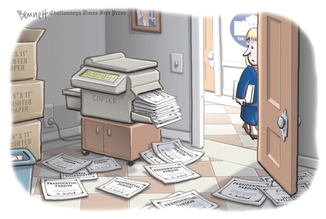 Editorial cartoon: Pardons