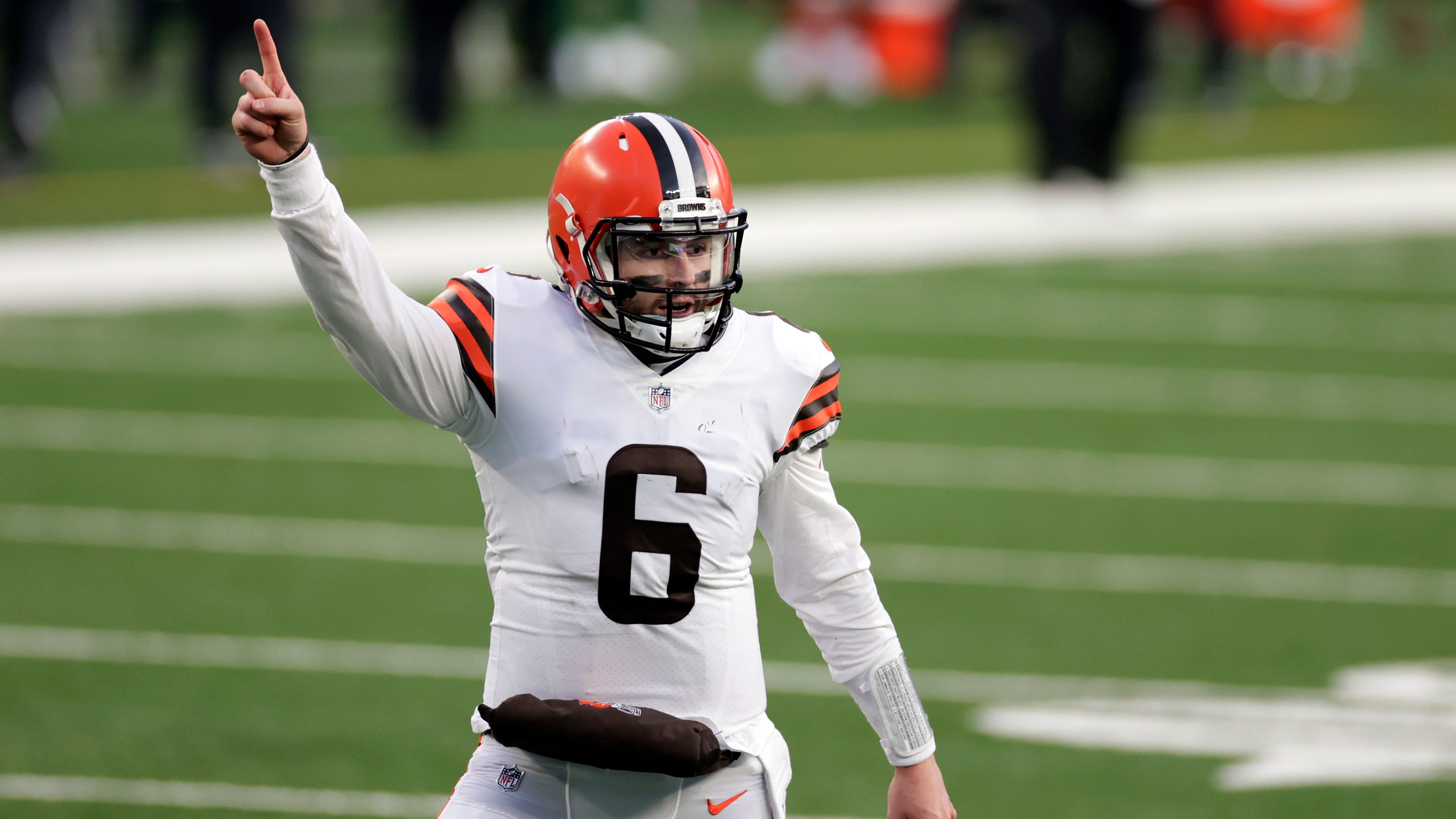 Could quarterback Baker Mayfield finally lead the Cleveland Browns to a Super Bowl? (AP Photo/Adam Hunger)