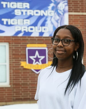 Twinsburg High School senior Aeneas Glover, pictured Monday, is a Make the Grade Teen of the Month.