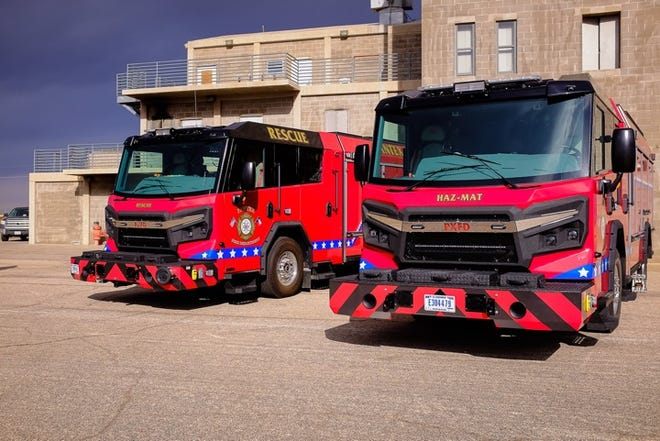 Pantex Emergency Services and Fire Department personnel unveiled a new Rescue truck and a Hazmat truck on Monday at the Amarillo College East Campusatthe Amarillo Fire Department Training Facility -12400 NE 8th Ave.
