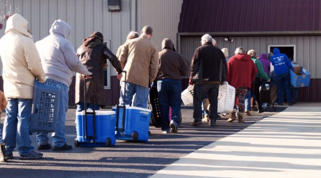 The Southeast Missouri Food Bank has seen the number of people coming to food pantries and mobile food distribution sites increase as much as three times since the pandemic began. Counties in southeast Missouri have some of the highest rates of food stamp applications in the state.