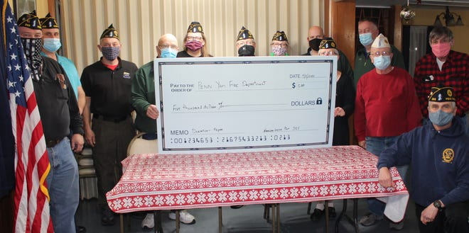 An incorrect photo was erroneously substituted last week for the Veterans of the American Legion Johnson-Costello Post 355 in Penn Yan donating $5,000 to the needed pager upgrades for the Penn Yan Fire Department.  The Chronicle-Express regrets the error and commends the Legion for their generosity to the community.