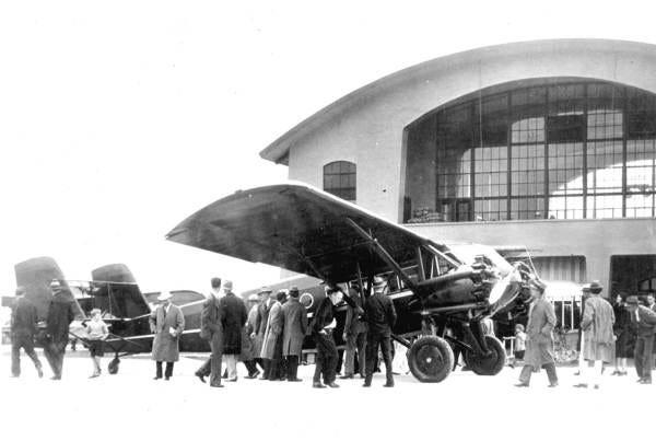 A Curtiss-Wright Kingbird of the kind that landed at Daytona Beach Municipal Airport, Jan. 1, 1931.