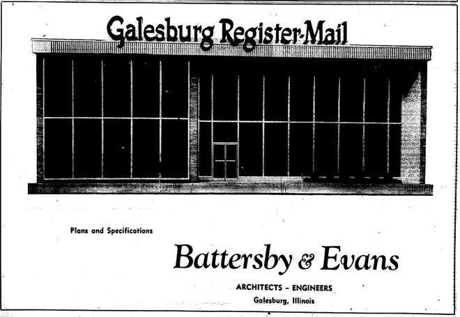 These are the plans Register-Mail building that was built in 1961 at 140 S. Prairie St.
