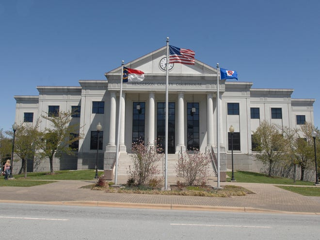 The Henderson County Courthouse on North Grove Street in Hendersonville.