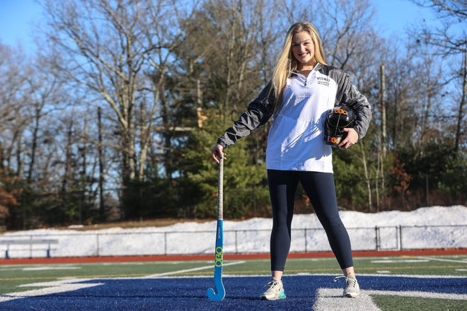 Medway High senior Sophie Brady poses for a photo at Medway High School in Medway on Dec. 26, 2020.
