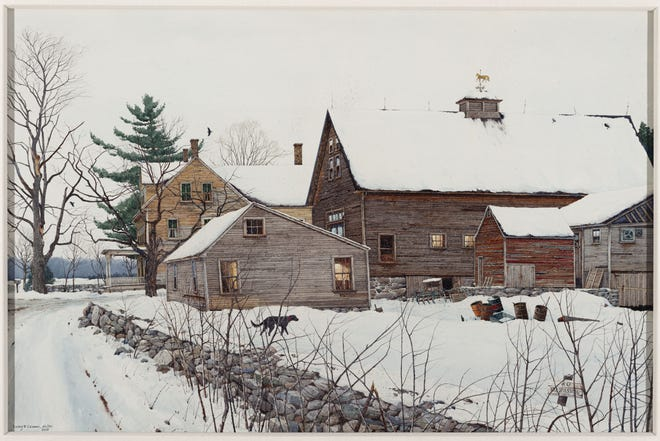 "Loring W. Coleman, ""Home,"" Sterling, MA, 1982, 2003. Watercolor"