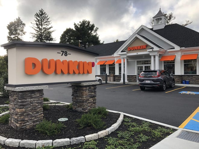 """Police say they're putting on a """"full-court press""""  to find a man who robbed this Dunkin' store at 78 West Main St. in Hopkinton."""