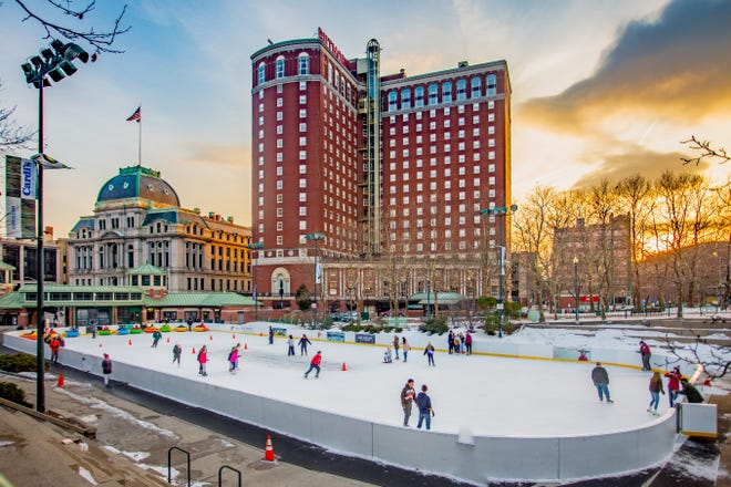 Start the day in Downtown Providence with an ice skating session before moving on to one of the city's great restaurants and some shopping