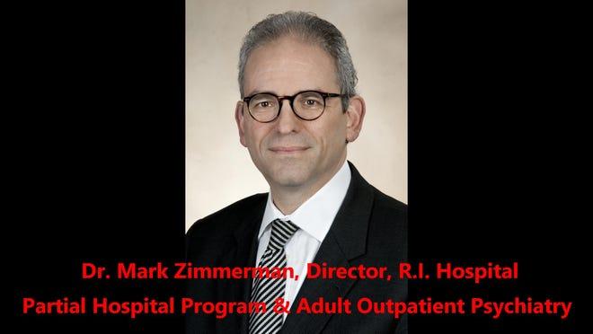 """Les vaccins étant déjà déployés contre le nouveau coronavirus, le Dr Mark Zimmerman dit que l'une des questions qui se posent est de savoir à quoi ressemblera l'avenir des traitements de santé mentale.  «J'espère que ce sera un hybride,"""" il dit, """"ce qui signifie que nous pourrons voir des individus en personne ainsi que des individus virtuellement."""""""