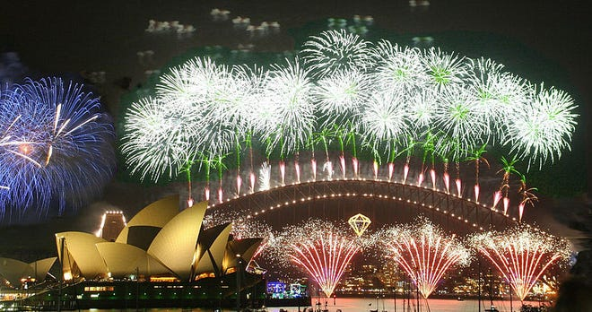New Year's Day celebration in Sydney, Australia.