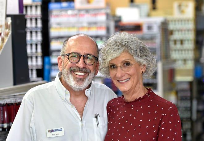 Robert Antovel with his wife, Donna Antovel own Art & Frame of Sarasota together.