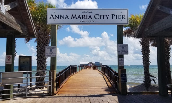 The City Pier Grill and Bait Shop has opened on the Anna Maria City Pier, pictured here on July 19.