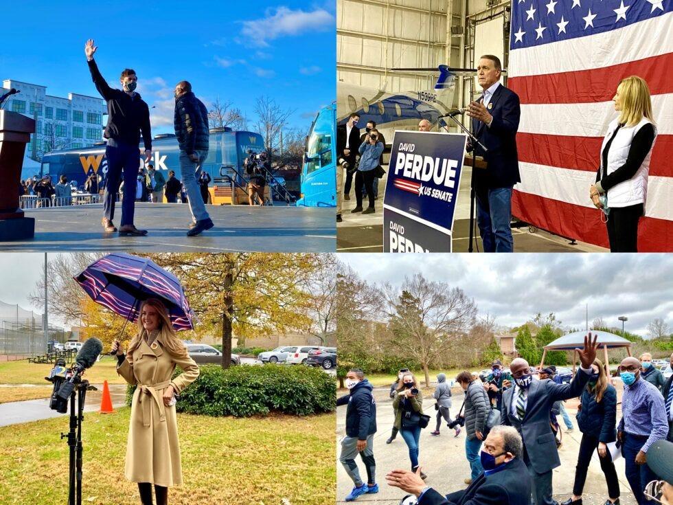 Jon Ossoff, U.S. Sen. David Perdue, Rev. Raphael Warnock and U.S. Sen. Kelly Loeffler are competing for Georgia's two Senate seats in the runoff elections on Jan. 5, 2021.