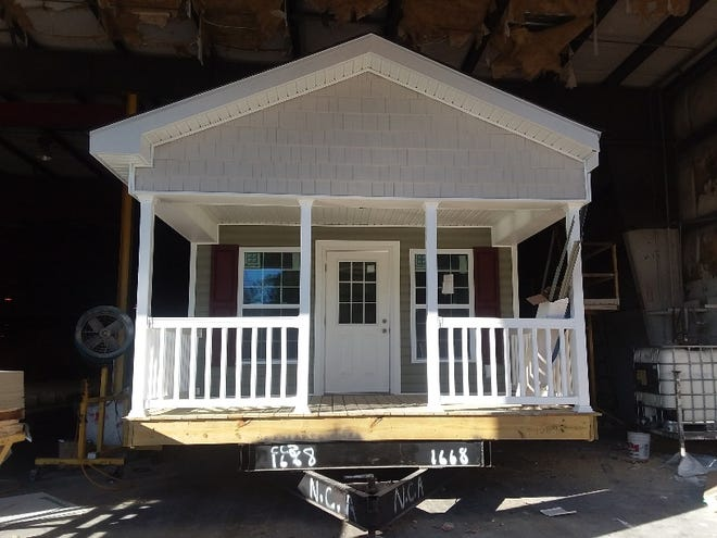 A tiny home slated for the Eden Village of Wilmington, which will be a community for chronically homeless and disabled individuals.