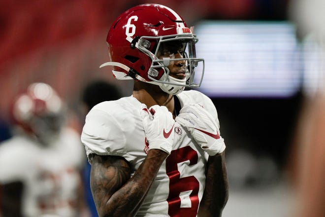 Alabama wide receiver DeVonta Smith added the Maxwell, Walter Camp and Biletnikoff awards Thursday night.