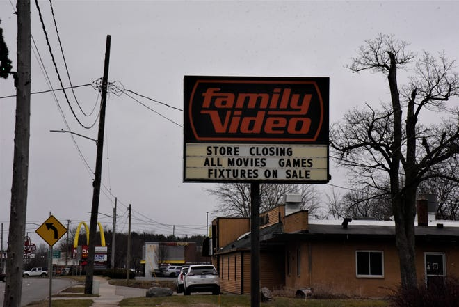 Family Video stores across the state are closing. This Family Video at 1150 W. Michigan Ave. in Marshall is holding a liquidation sale before it closes to the public on Jan. 22.