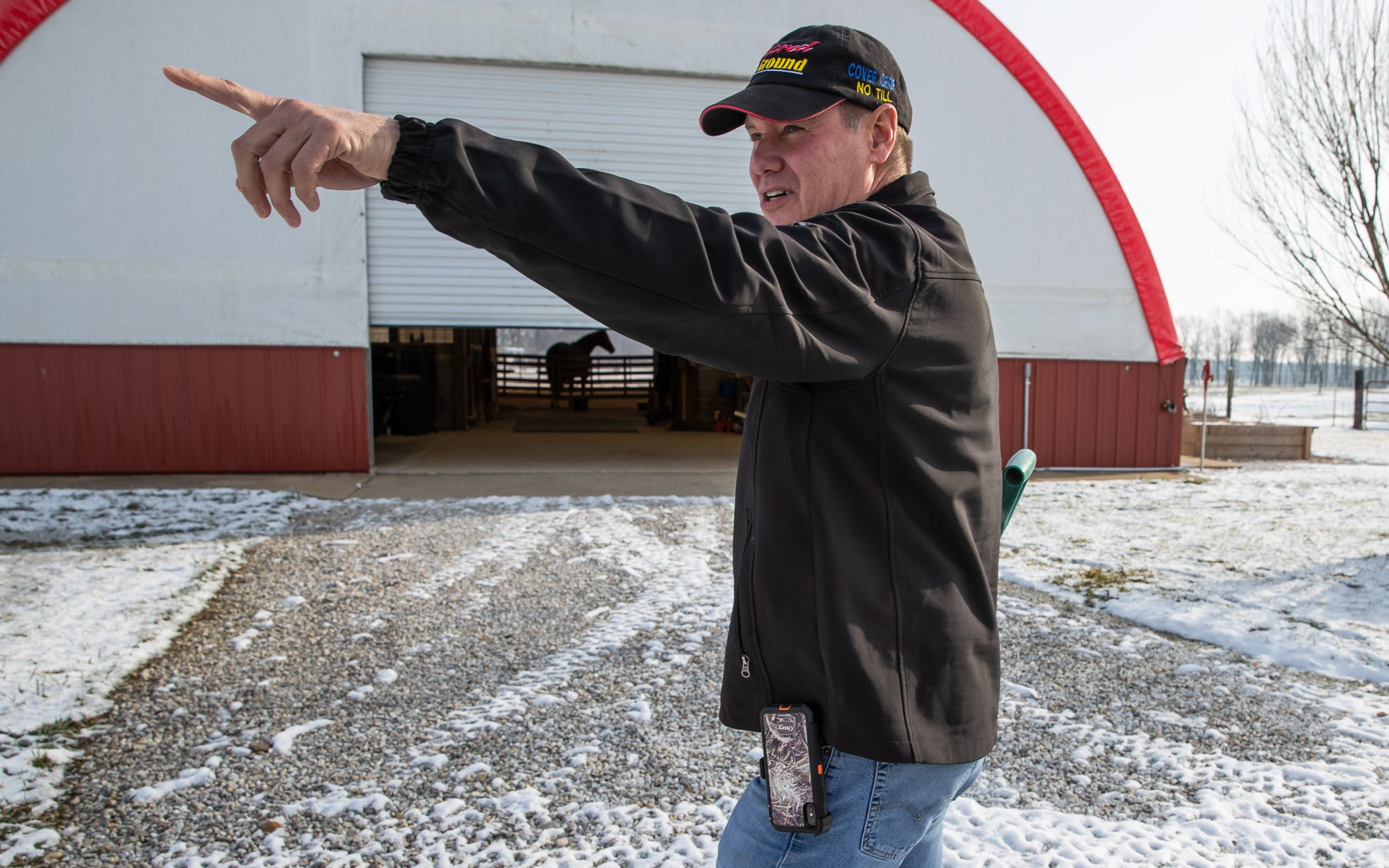 """""""My definition of regenerative farming is you have to take everything away, all inputs are gone,"""" said Rick Clark, a fifth generation farmer in Williamsport, Ind. """"Tillage, chemicals, fertilizer, manure, everything is taken away and we're now working on a symbiotic relationship with Mother Nature."""" Clark says he'll never go back to the way he used to farm his land and says he's saving $800,000 a year in inputs and other farm expenses."""