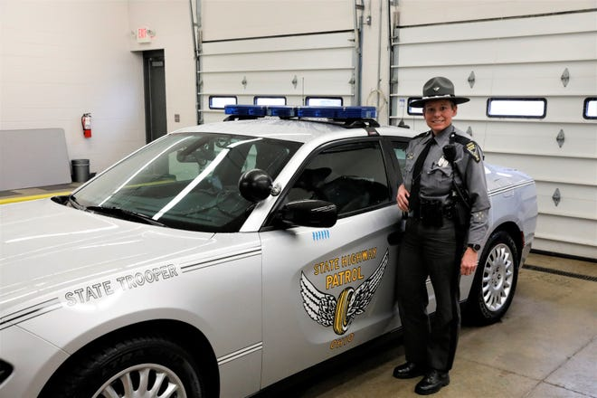 Ohio State Highway Patrol Trooper Lori Dixon was voted Trooper of the Year of the Lancaster post for 2020. She's served at this post since 1999.