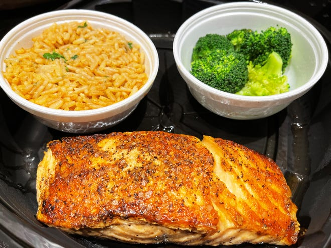 Grilled salmon from Texas Roadhouse, South Naples.