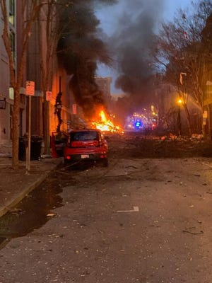Former Milwaukee Assistant Police Chief Raymond Banks said his family emerged from their Nashville hotel above the RV that exploded to find a street that looked like a war zone.