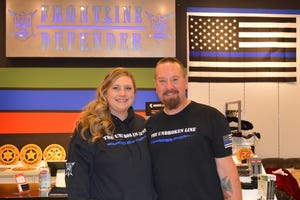Germaine and Brian Eisel own Frontline Defender at Southridge Mall.